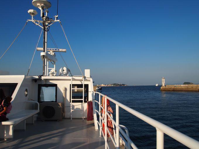 師崎港から高速船で、離島「日間賀島」へ