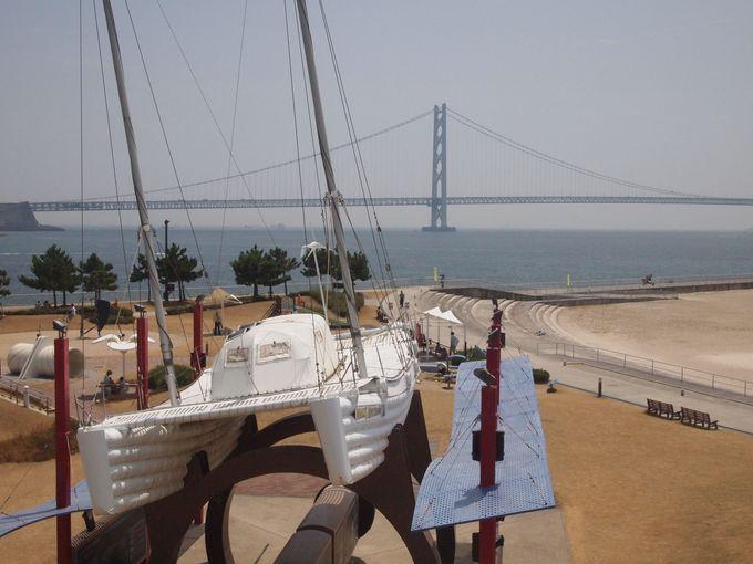 【朝霧・大蔵海岸公園】お腹いっぱいになった後は、絶好のロケーションの浜辺へGO!