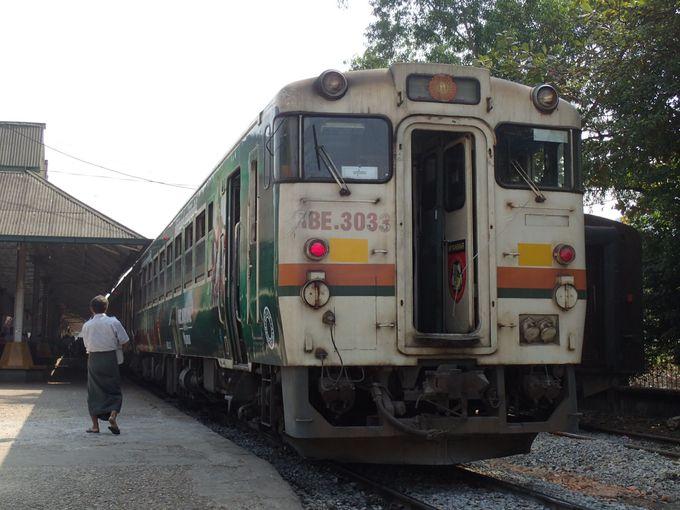 ミャンマーで懐かしいJR東海の車両に乗る