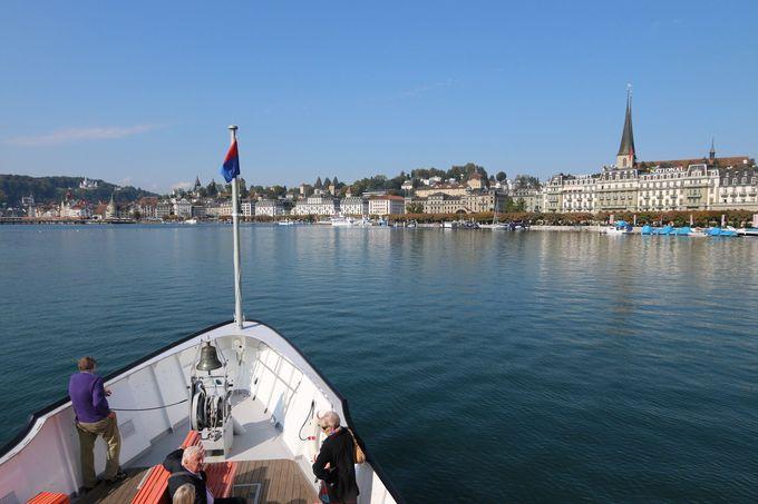 アクセス抜群!ルツェルン湖の船上クルーズも楽しめる
