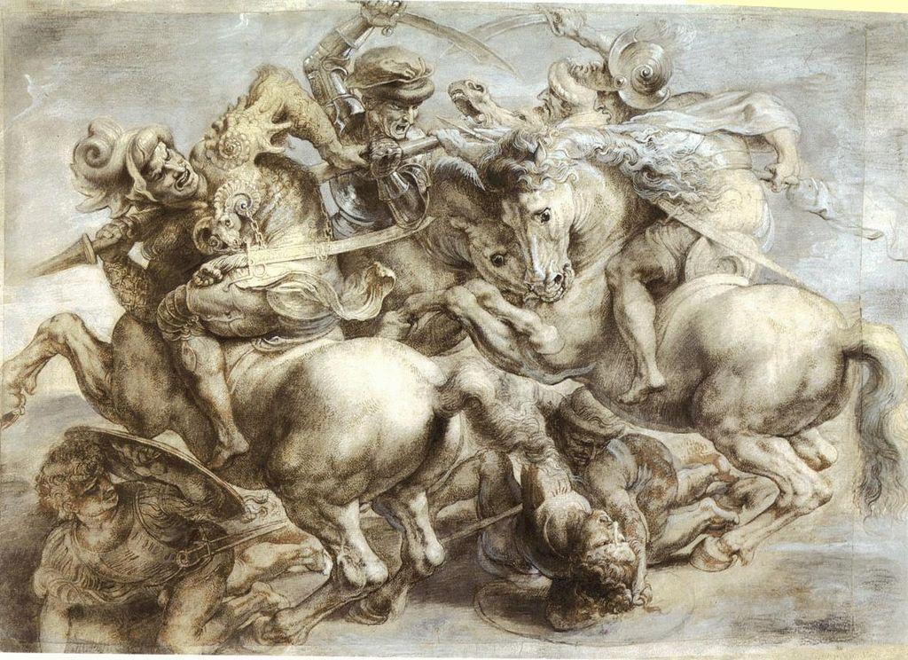 レオナルド・ダ・ヴィンチの幻の大作「アンギアーリの戦い」