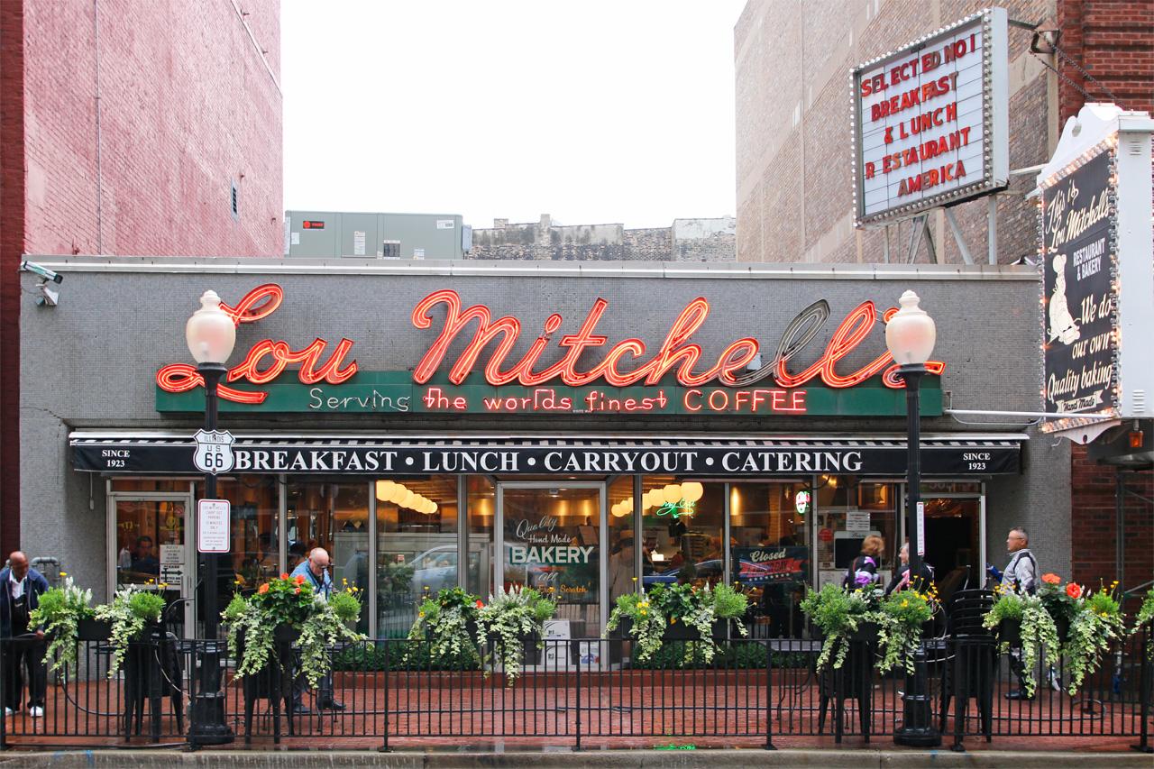 ルー ミッチェルズで朝食を。ルート66の起点・シカゴの有名店