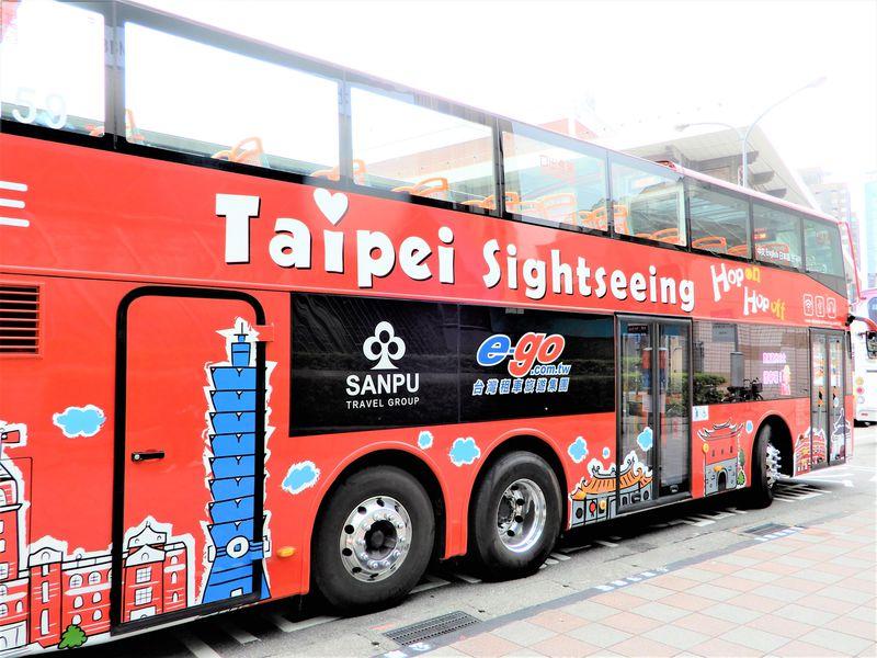 台北の2階建てオープントップバスで楽々市内観光する方法