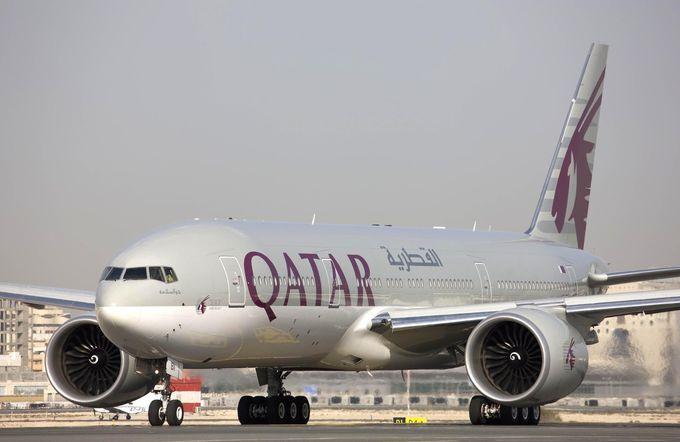 成田空港から首都ドーハへ!カタール航空のボーイング777