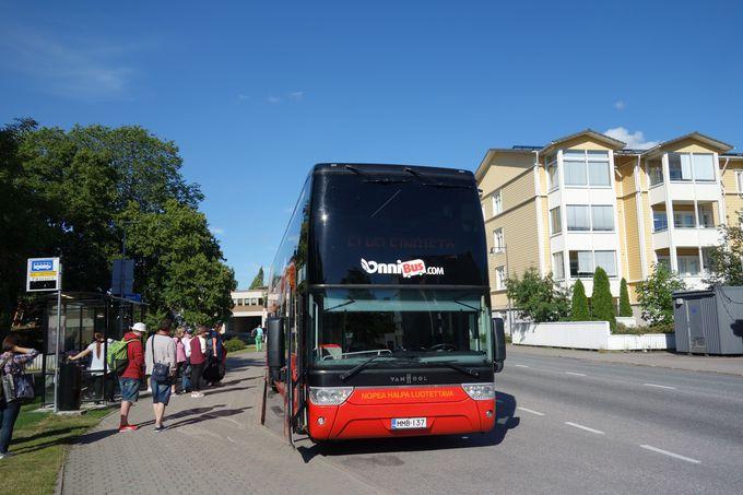 発着地以外のバス乗り場について