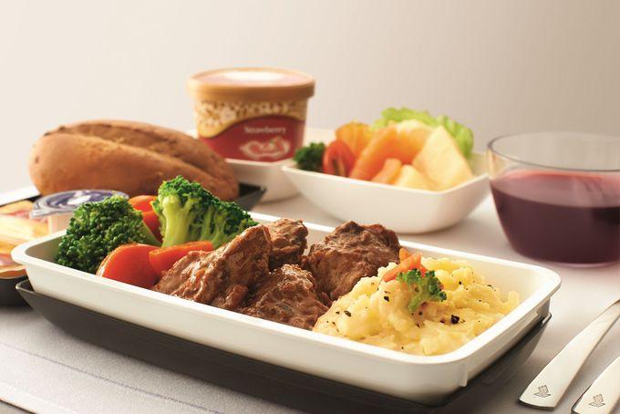 見た目も美しい機内食の紹介