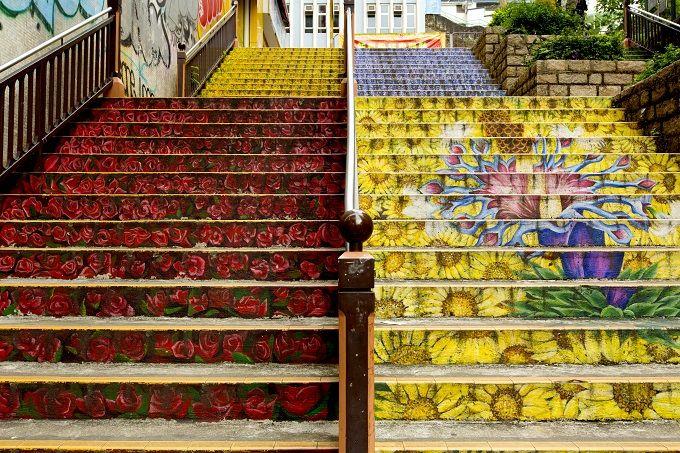 4.旺角 花の階段