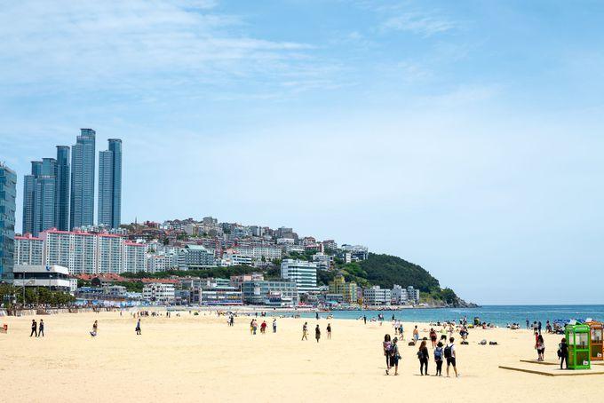 「海雲台ビーチ」は韓国を代表するリゾート