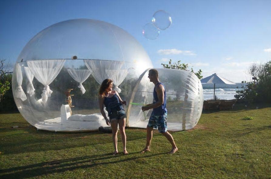 2.透明なバブルキャビンに包まれて、星の下で眠る/クタ
